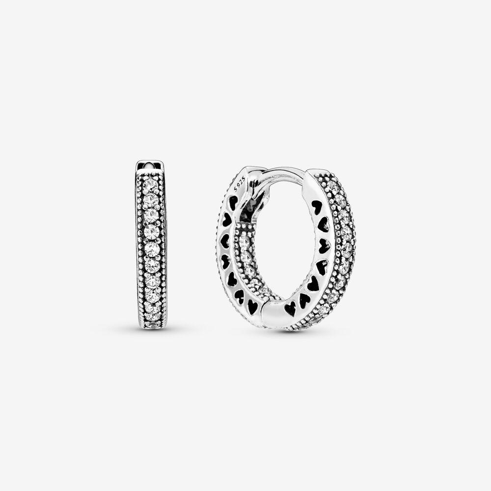 Pandora Pendientes en plata Aros circonitas pequeños