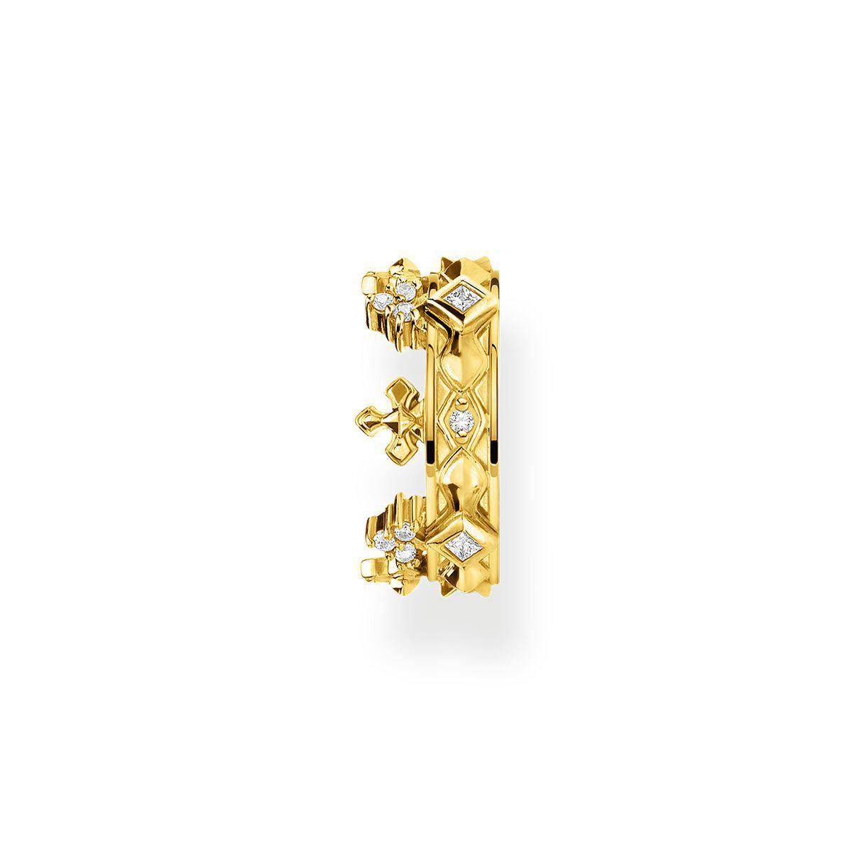 Ear cuff individual corona dorada de Thomas Sabo