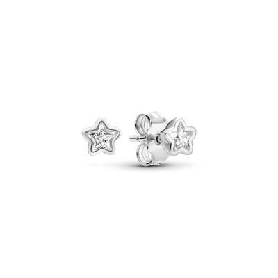 Pandora Pendientes en plata de ley brillo estelar