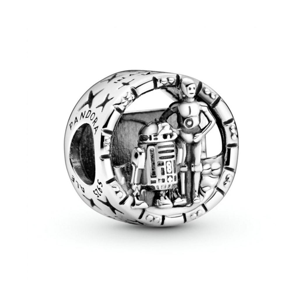 Charm en filigrana C-3PO™ y R2-D2™ Star Wars™ en plata Pandora