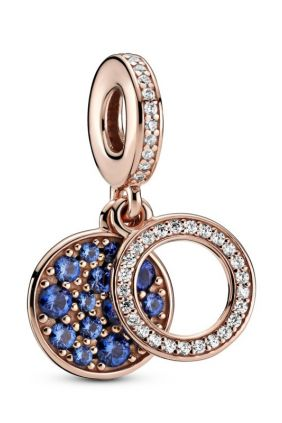 Comprar Charm Colgante en Pandora Rose Doble Disco Azul 789186C01