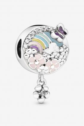 Pandora Charm plata Arco Iris y Mariposa