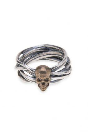 Comprar online Anillo PlataDePalo Skull Leigh SR001X