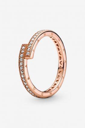 Comprar online Anillo Superpuesto Brillante Oro rosa 189491C01