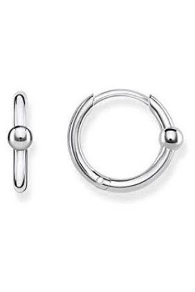 Comprar online Pendientes de Aro de plata con esfera Thomas Sabo