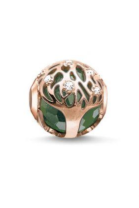 Comprar online Bead árbol de la vida verde Thomas Sabo Karma beads K0168-842-6