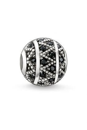 Bead zigzag negro Thomas Sabo Karma beads