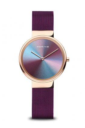 Comprar online Bering Reloj Mujer Aniversario esfera multicolor brazalete morado