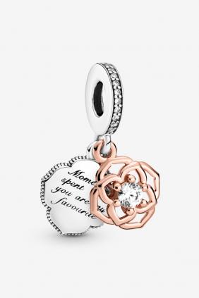 Comprar online Charm Colgante Rosa en Dos Tonos Pandora 789373C00