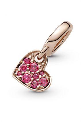 Comprar online Charm Colgante en Pandora Rose Corazón en Pavé Rojo 789404C02