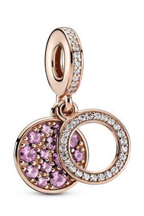 Comprar online Charm Colgante en Pandora Rose Doble Disco Rosa 789186C02