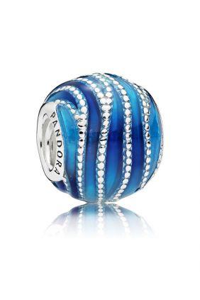 Charm Pandora en plata de ley Remolino Azul