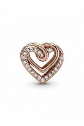 Comprar Charm en Pandora Rose Corazones Brillantes Entrelazados
