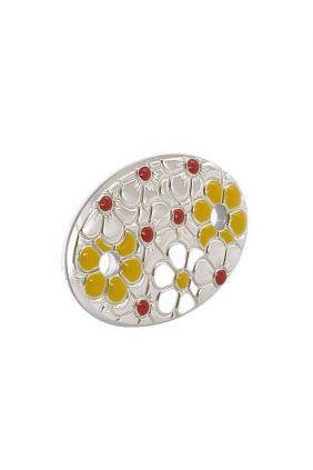 Comprar online Chupetero plata flores esmaltado Vinard 900117ES