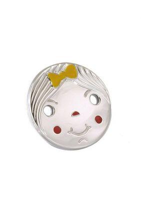 Comprar online Chupetero plata niña esmaltada Vinard 900117ES