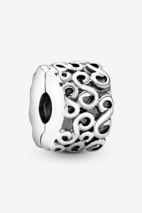 Pandora Clip en plata de ley Serpentine