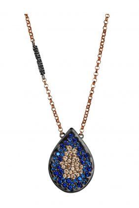 Comprar Colgante plata oro laminado circonitas azules champán Bohemme 7SFT011P42AZ