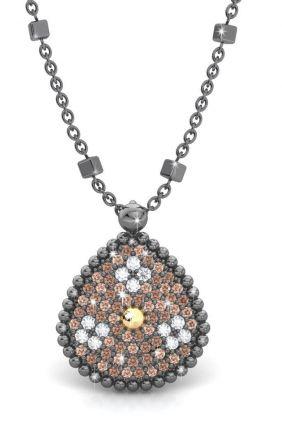 comprar online Colgante plata y oro amarillo 18k circonita de Bohemme 7PRI023P42