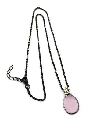 Comprar online Colgante plata y oro laminado con cuarzo rosa hidrotermal Bohemme 7TUT021P42PI
