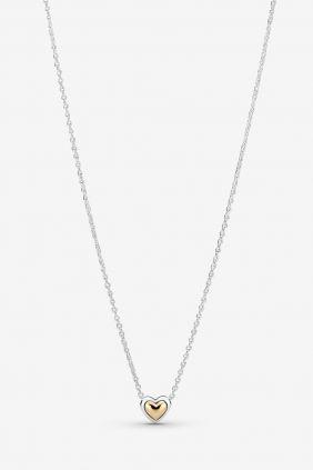 Comprar online Collar Corazón de Centro Dorado Pandora 399399C00