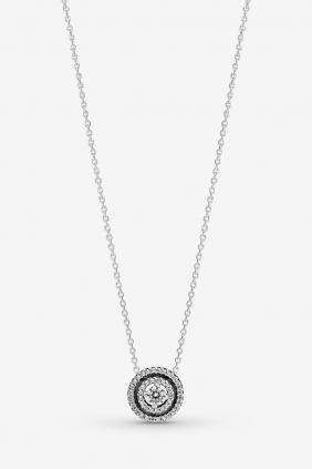 comprar online Collar Doble Halo Brillante Pandora 399414C01