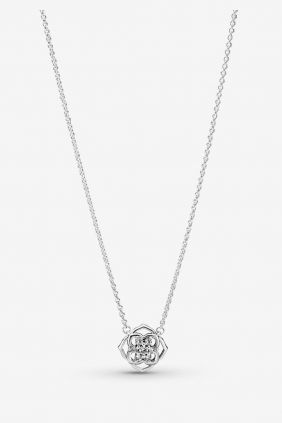 Collar Pandora Pétalos de Rosa Plata de primera ley