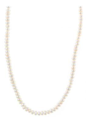 Collar Salvatore plata chapado dorado con perlas 213C0099
