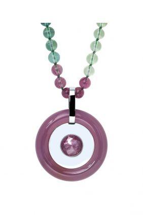 Comprar online Collar de plata y ágatas de Belén Bajo 188946C01