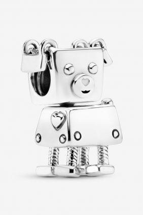 Pandora Charm plata Bobby Bot