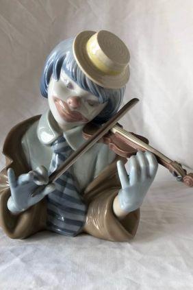Comprar Figura busto payaso violín de Lladró 5600