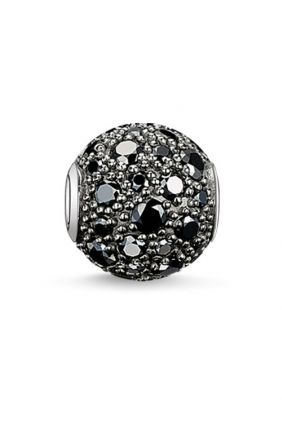 Bead crushed pavé negro Thomas Sabo Karma beads
