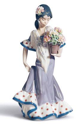 Comprar online Figura andaluza con flores de Lladró 5490