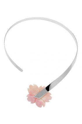 Comprar online Gargantilla plata madre perla flor de Belén Bajo 188946C01