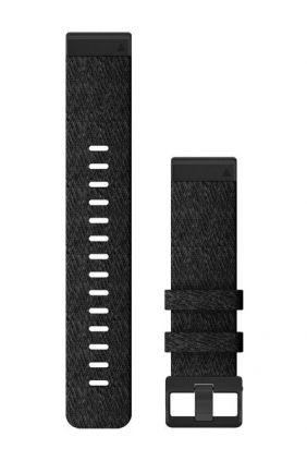 Garmin Pulsera Nailon negro jaspeado QuickFit® 22