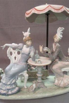 Figuras Lladró mujeres tomando el té 1511