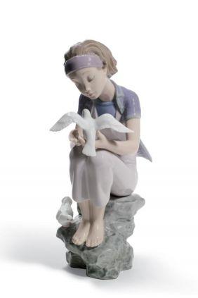 Comprar Figura niña paloma annual 2011 de Lladró online
