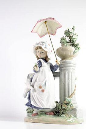 Comprar online Figura niña parasol columna de Lladró 5284
