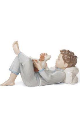 Comprar Figura niño leyendo con perro de Lladró 8034 online