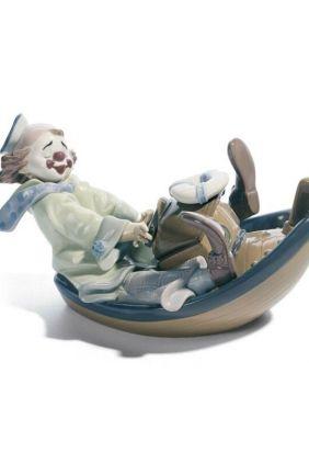 Figura Lladró payaso barca 8137