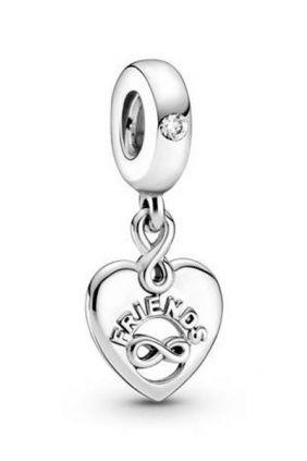 Comprar online Pandora Charm Colgante en plata de ley Corazón Amigos para Siempre 799294C01