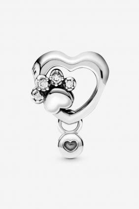 Comprar online Pandora Charm en plata Corazón y Huella 798872c01