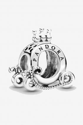 Pandora Charm plata Carroza Logo Corona