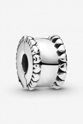 Pandora Charm plata Clip corazones laterales