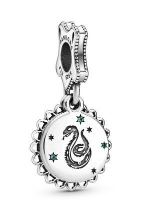 Pandora Charm plata Slytheryn