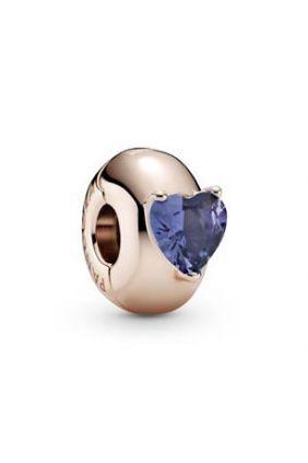 Comprar online Pandora Clip en Pandora Rose Corazón Solitario Azul 789203C02