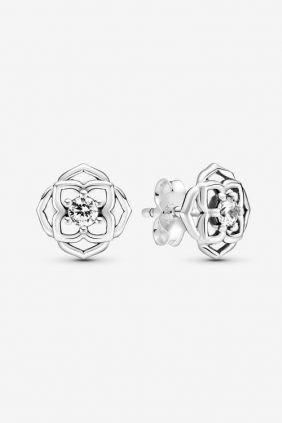Comprar online Pendientes Pandora de Botón Pétalos de Rosa