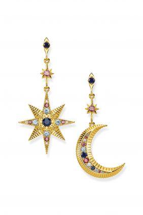 Pendientes Royalty estrella & luna Thomas Sabo