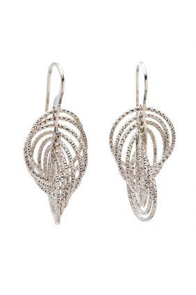 Pendientes Salvatore plata rodio aros pequeños diamantados preciosos