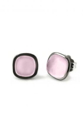 Compras online lPendientes plata y cuarzo rosa hidrotermal Bohemme 7TUT001EPI