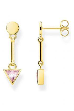Comprar online Pendientes triangulo rosa Thomas Sabo H2038 414